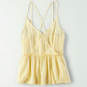 Stripped cross back cami